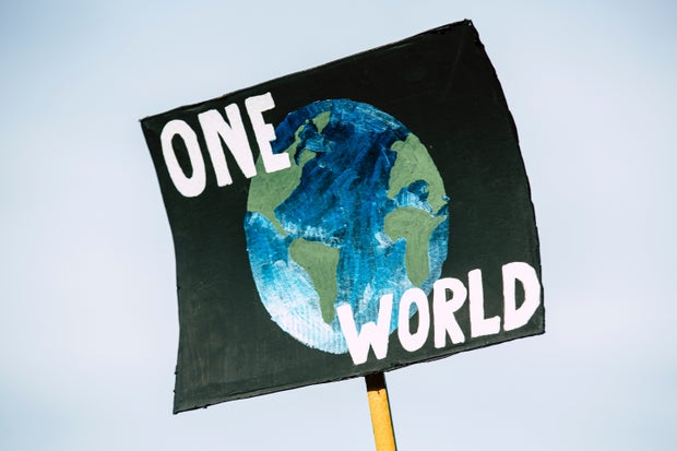 poster of planet and one world