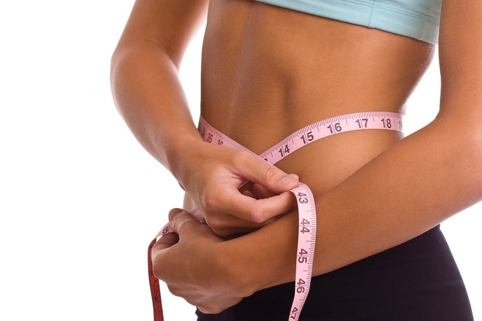 body image, waist, measuring tape