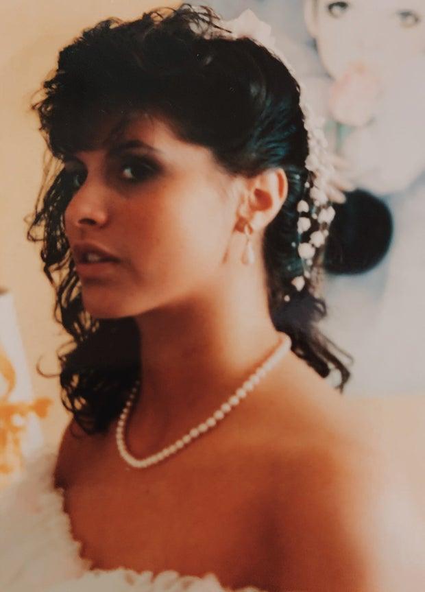 sophia upshaw mother mom wedding day dress