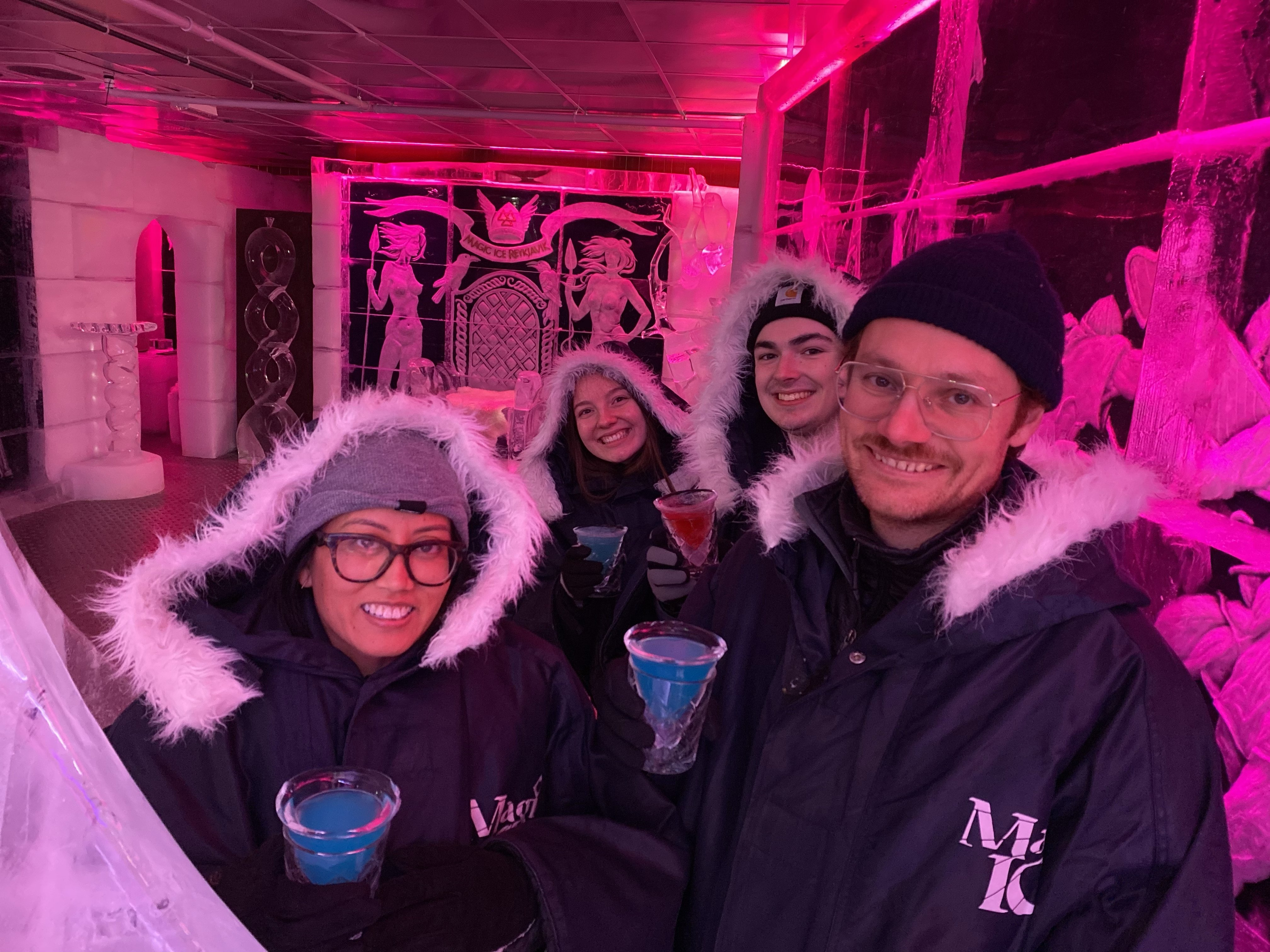 Parents and boyfriend and I at Ice bar