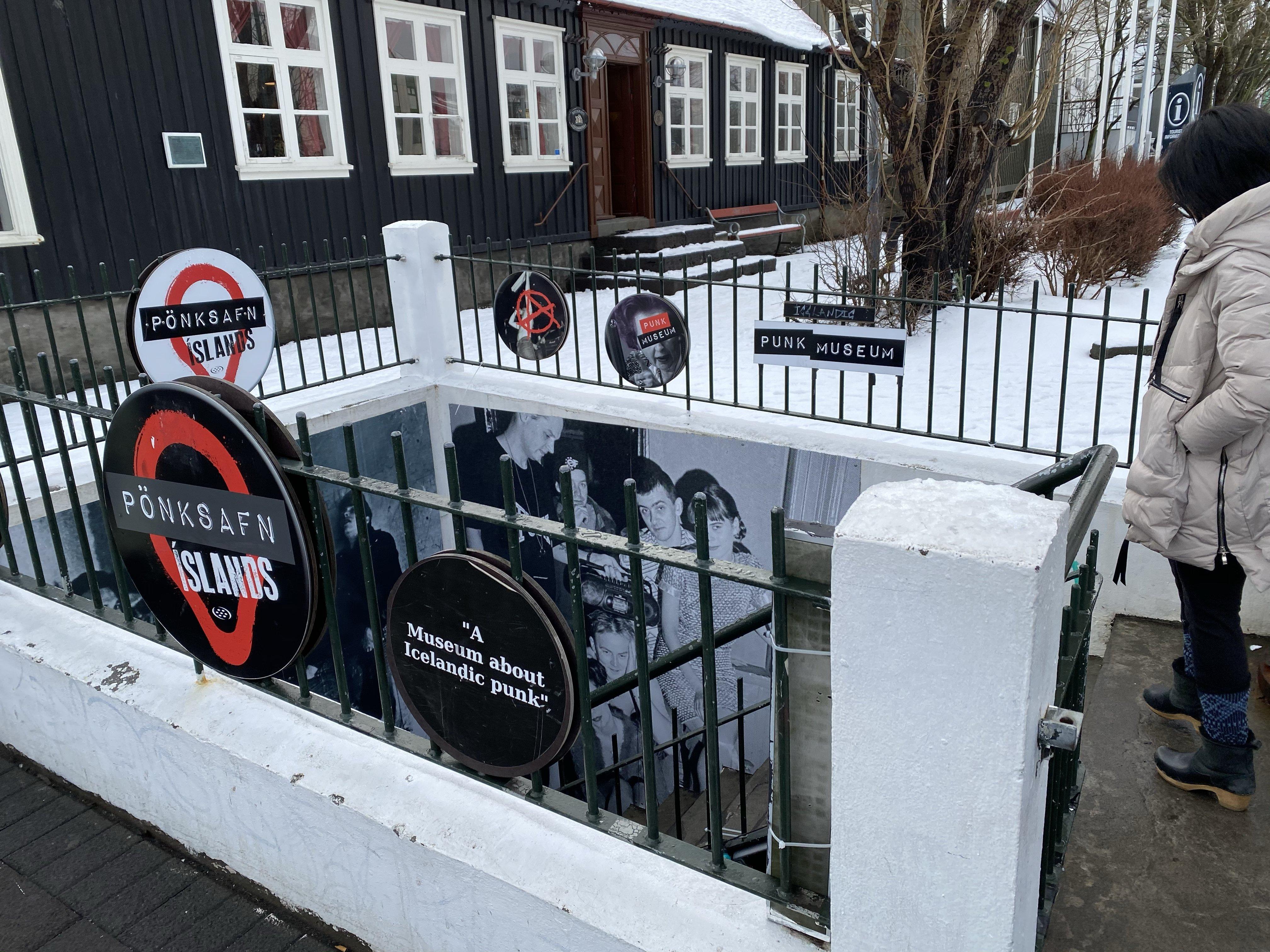 Underground entrance to Icelandic Punk Museum