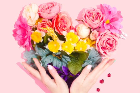 Heart-shaped bouquet of flowers