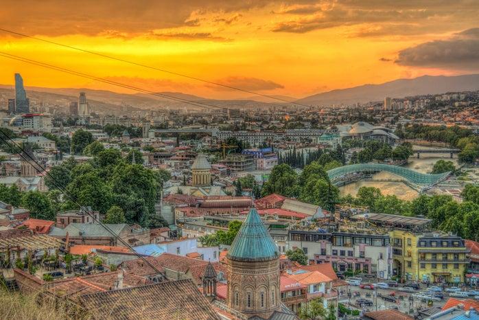 Overview of Tbilisi, Republic of Georgia
