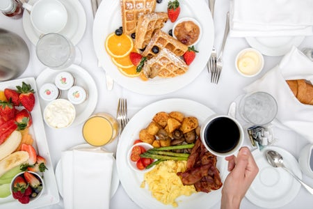 Hotel breakfast room service