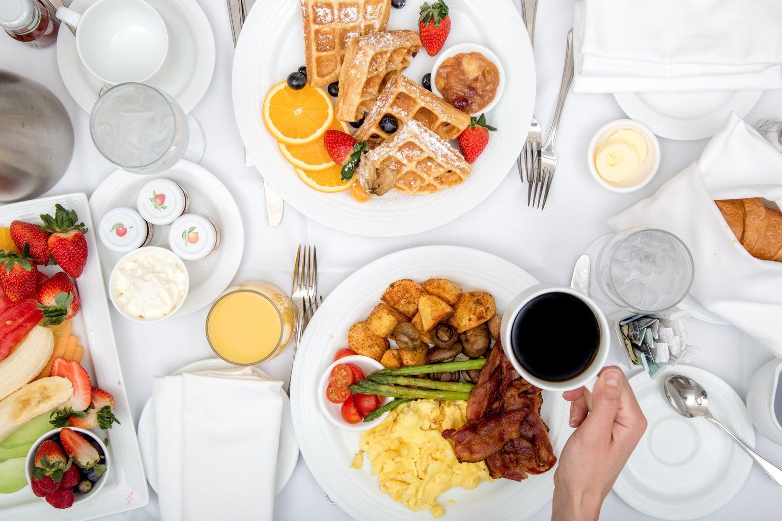 Hotel breakfast room service