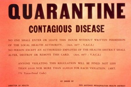 Orange Corona quarantine notice