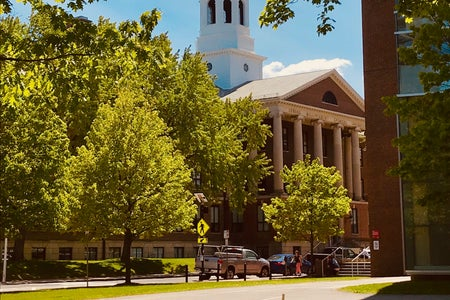 photo of church on Harvard's campus