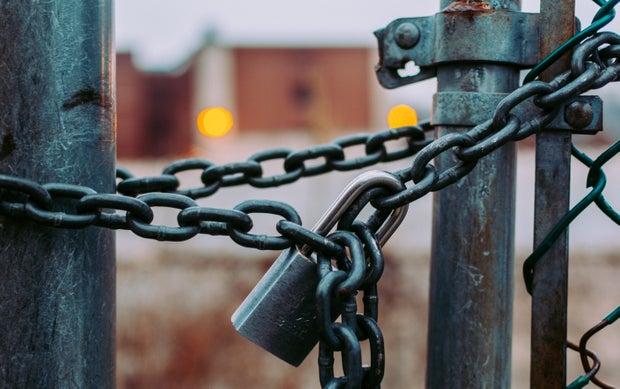 chains around a gate