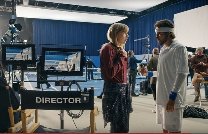 Music Video Screenshot: Taylor Swift giving her male counterpart advice