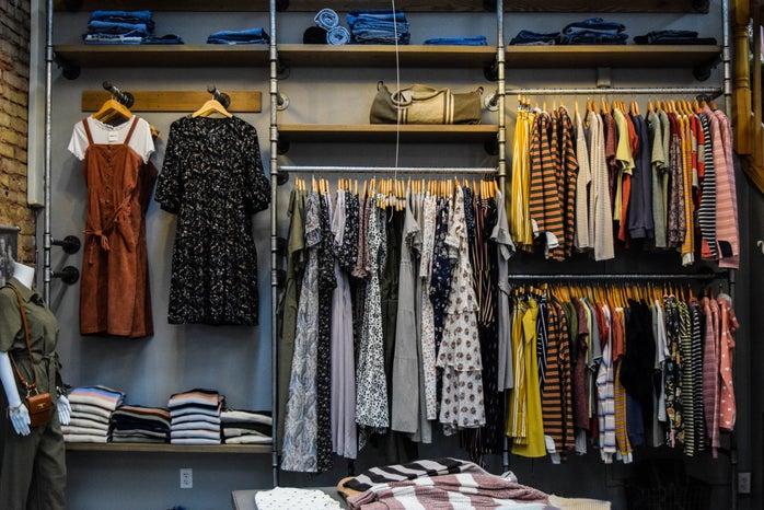 photo of an organized closet