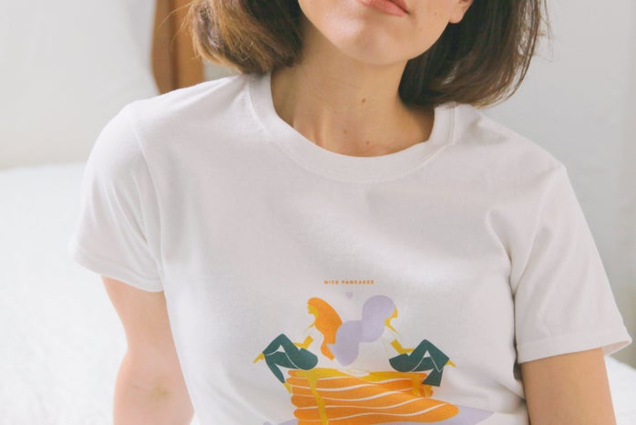 LIMITED EDITION NICE PANCAKES COTTON T-SHIRT