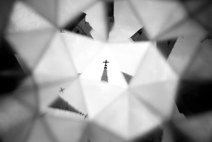 Kaleidoscope image of building
