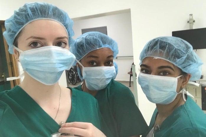 girls in scrubs