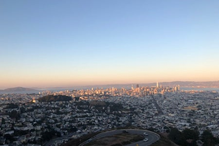 San Francisco city from Twin Peaks