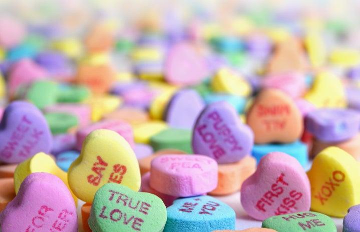 assorted valentines candies