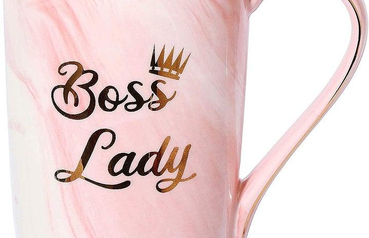 pink boss lady coffee mug