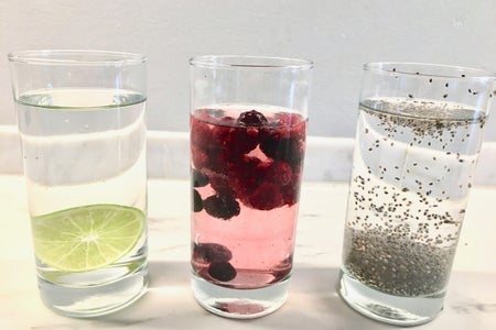 Three fruit drinks