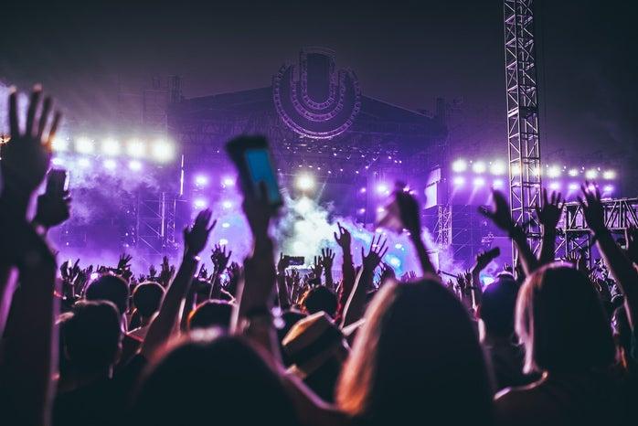 Music Festival Purple Lighting