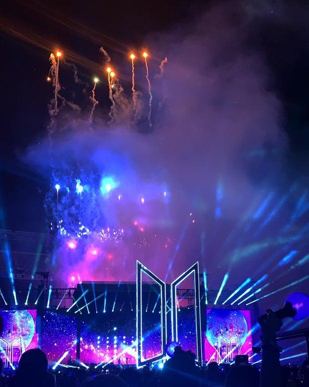 Kpop band BTS concert at MetLife Stadium