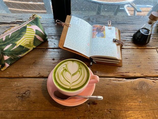 matcha latte, matcha, japan, journaling, travel
