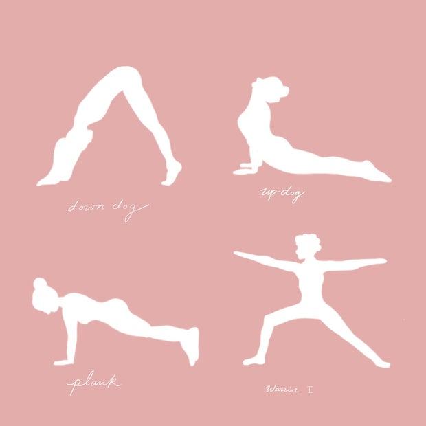 Yoga poses infographic