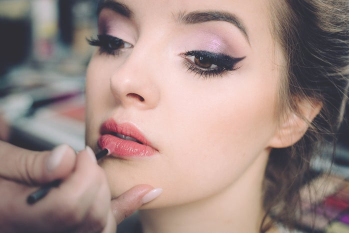 girl with make up on