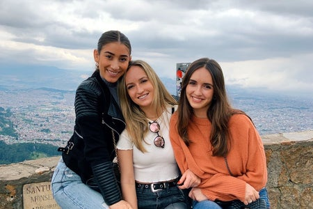 photo of Madelein Coss for profile written about them with friends