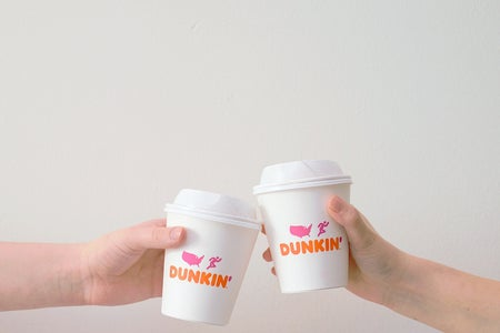 A picture of Dunkin' Donut's sign