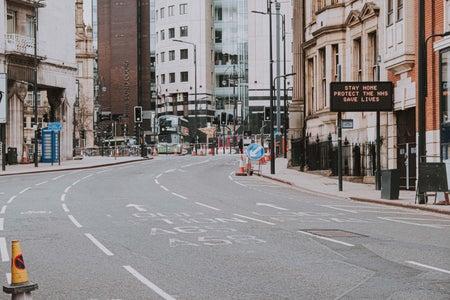 Empty street during quarantine