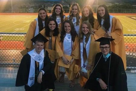 high schoolers graduating