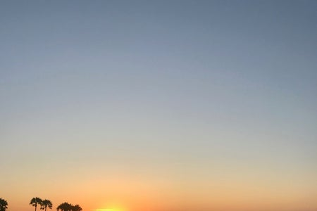 A picture of the sunset in San Diego