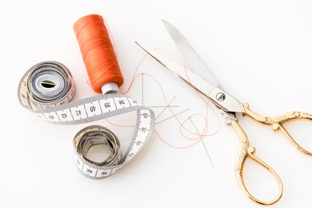 scissors and thread