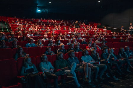 Movie theatre with people