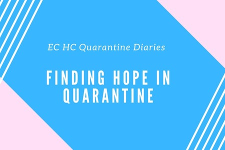 """A graphic that our chapter created for a new theme of artices we are doing for """"Quarantine Diaries"""""""