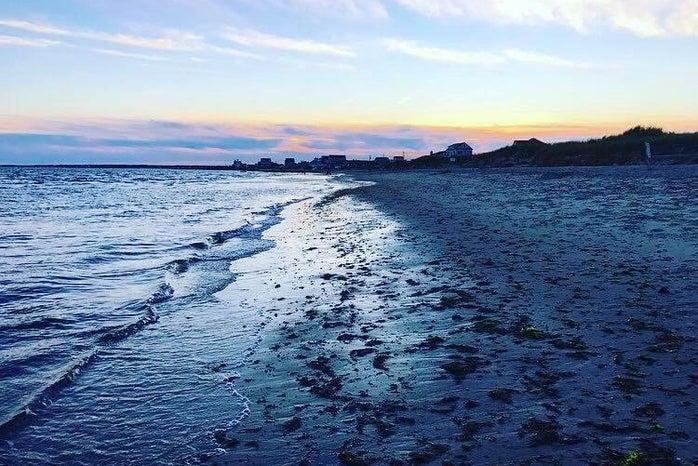 sunset beach in Cape Cod