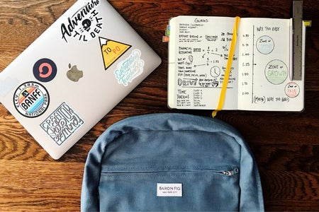 Backpack, notebook, laptop