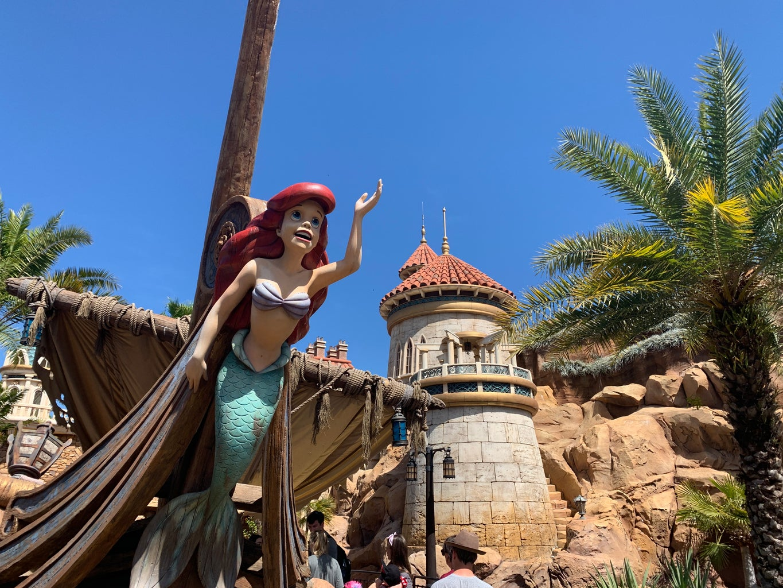 the little mermaid at disney world