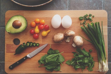 cutting board, cooking, ingredients
