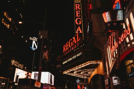 Vintage-looking regal movie theater