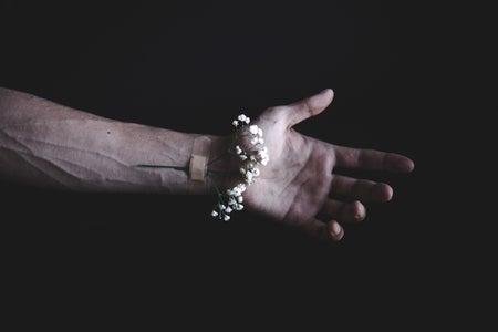 bandaid flower on wrist