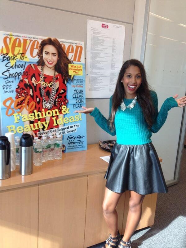 Arielle Tillett at Seventeen magazine