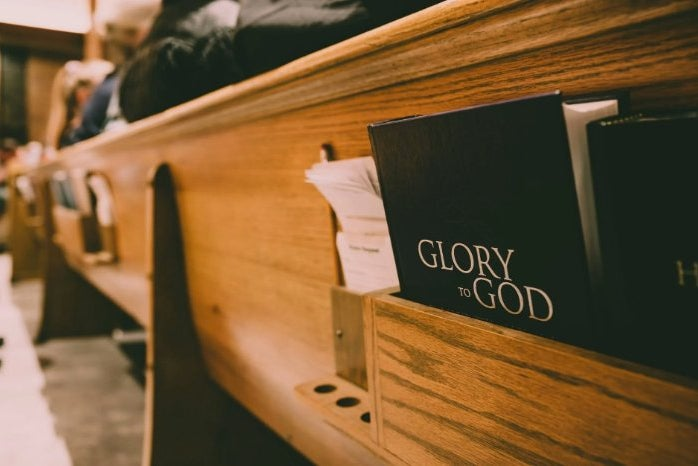 pew with bible