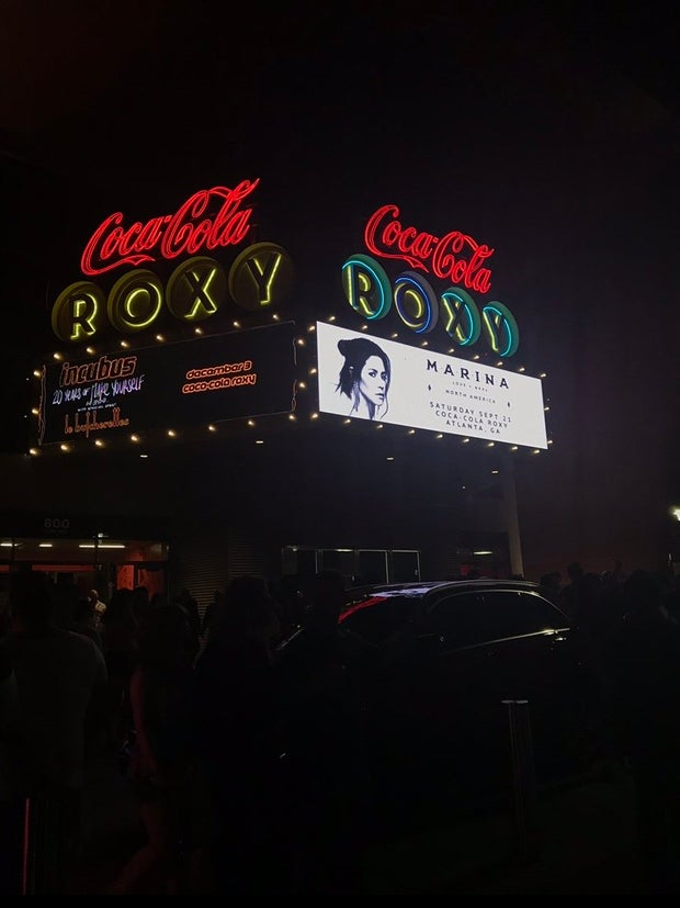 photo of MARINA concert details at Roxy theatre