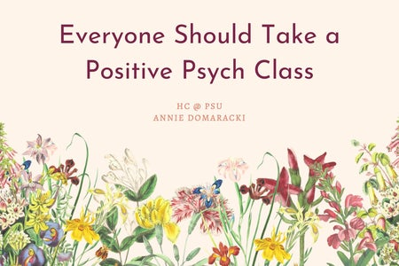 graphic for an article about positive psychology