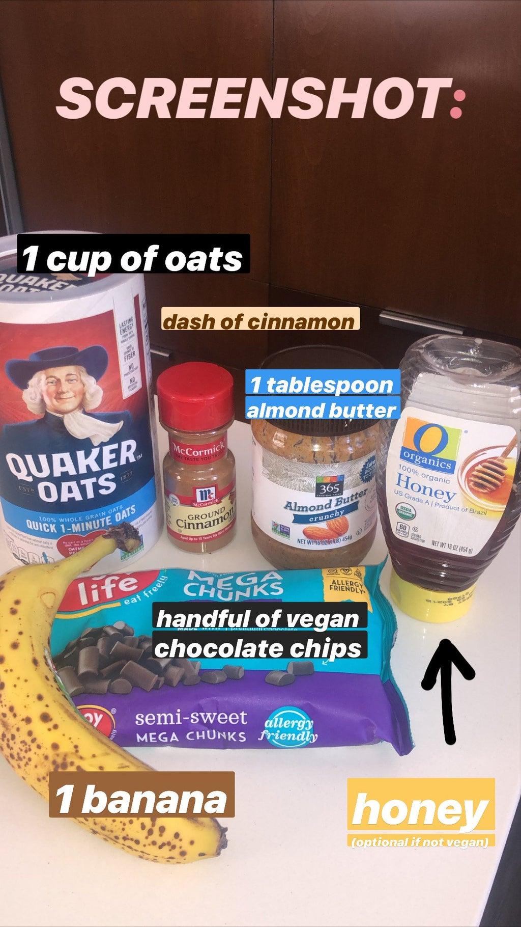 Photo of vegan cookie ingredients