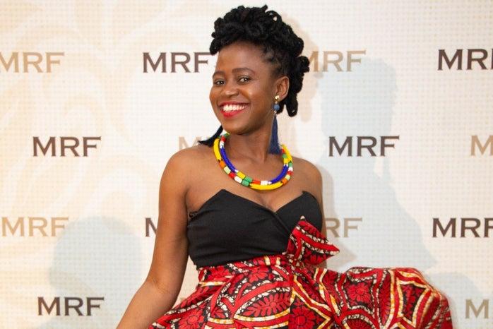 Jill Samukimba at the Mandela Rhodes Foundation ceremony.