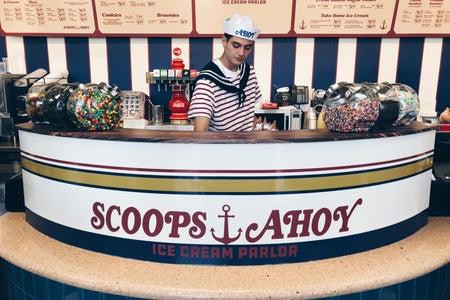 Stranger Things Scoops Ahoy Ice Cream