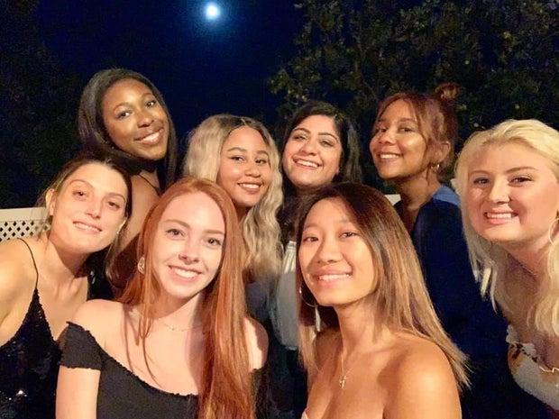 Kayla White, friends, girls, women, night out