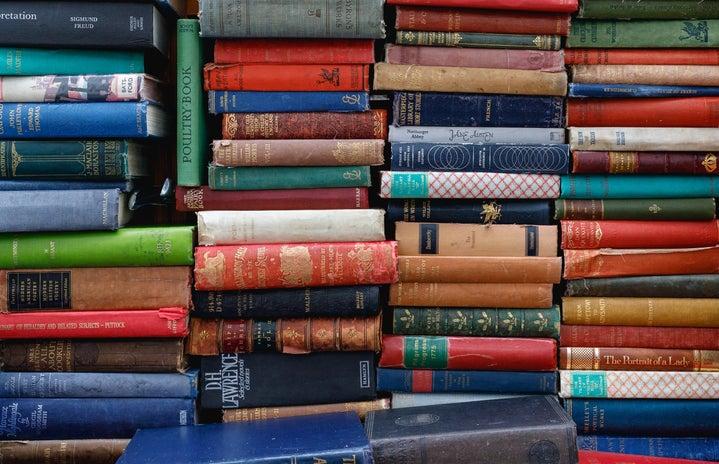 variety of book stacks