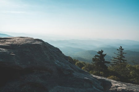 Blue Ridge Mountains North Carolina Landscape with forest and mountains